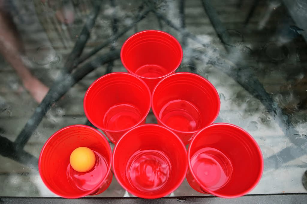 Beer Pong game for Indian  wedding