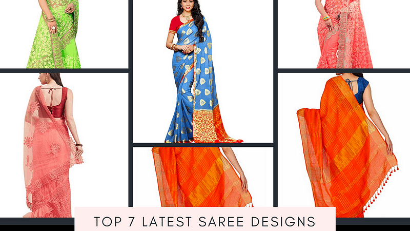 Top 7 latest Saree designs online on Amazon