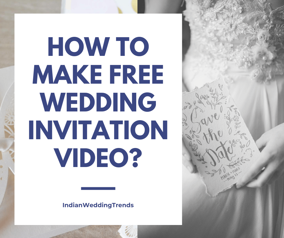 How to make a free wedding invitation video online?