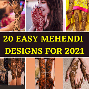 20 latest Bridal Mehndi Designs for 2021, 4th one is the simplest